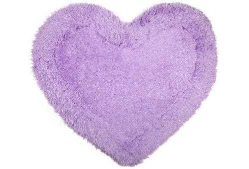 Alfombra de baño en forma de corazón