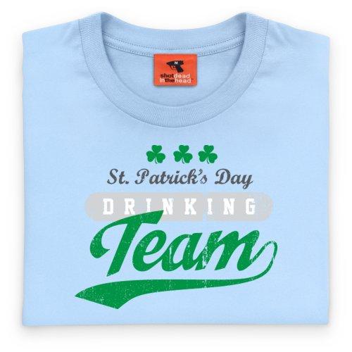 Drinking Team T-Shirt, Herren Himmelblau