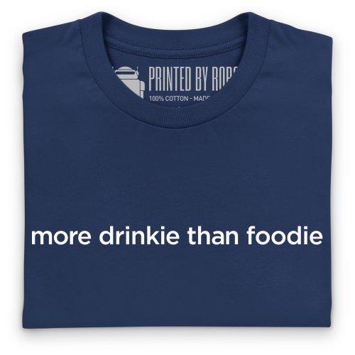 Drinkie vs Foodie T-Shirt, Herren Dunkelblau