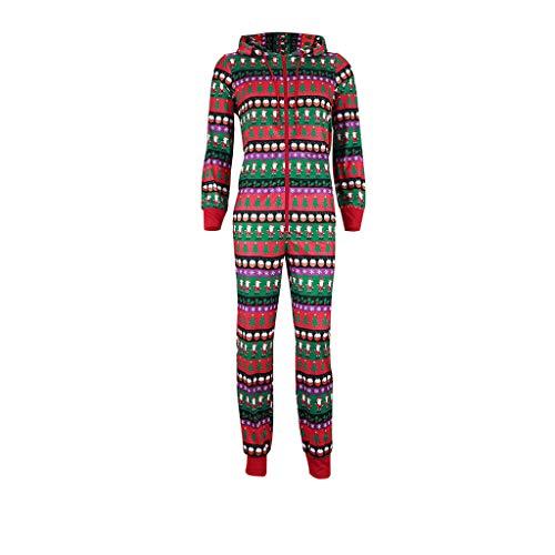 Schlafanzug Weihnachten Familie Baby Damen Herren Weihnachtsmann Jumpsuit Baum Pyjama Set Outfit Junge Mädchen Christmas Kostüm Reißverschluss