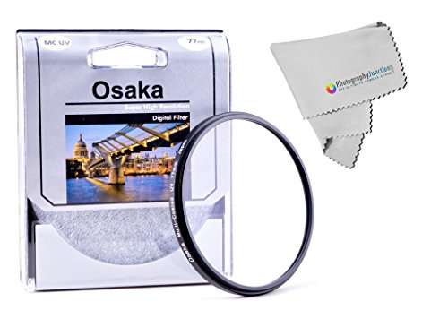Osaka 77mm Multi Coated Ultra Violet UV Filter + Free Photography Junction Micro Fiber Cloth for Canon EF 70-200mm f/2.8L IS II USM, Canon EF 24mm f/1.4L II USM,  available at amazon for Rs.2099