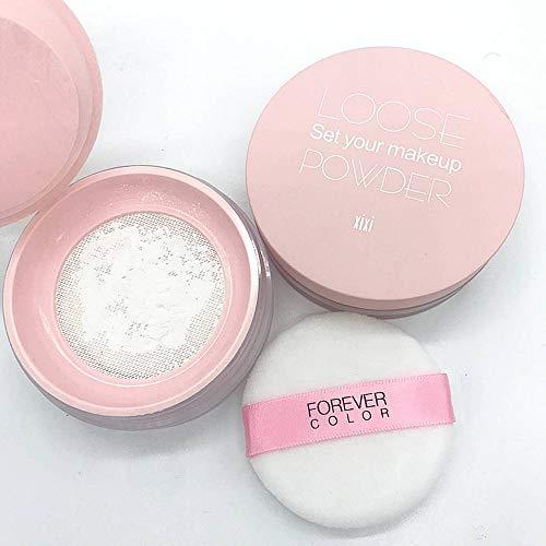 Polvere per il trucco, cosmetici di bellezza anti-sudore di lunga durata, polvere sciolta per il controllo del petrolio (01# bianco)