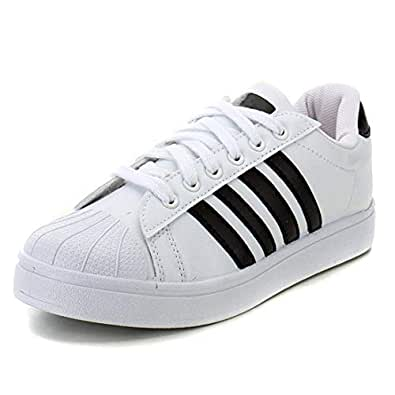 Ethics Perfect White Superstar Casual Sports Sneakers for Men's (7)