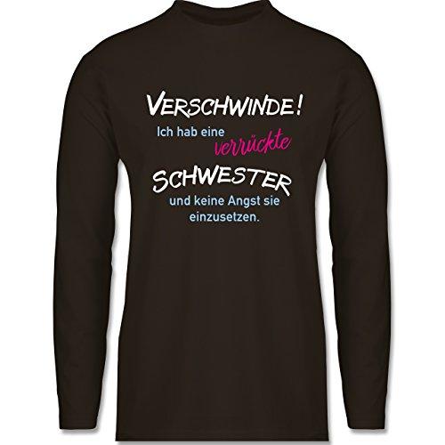 Bruder & Onkel - Geschwister Geschenke verrückte Schwester - Longsleeve /  langärmeliges T-Shirt für