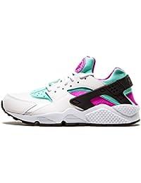 Nike  Air Huarache,  Damen Sneakers , weiß - white fuchsia flash artisan teal 104 - Größe: Verschiedene