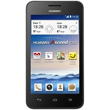 Huawei Ascend Y330 Smartphone débloqué 4 pouces  Android 4.2 Jelly Bean 4 Go Noir