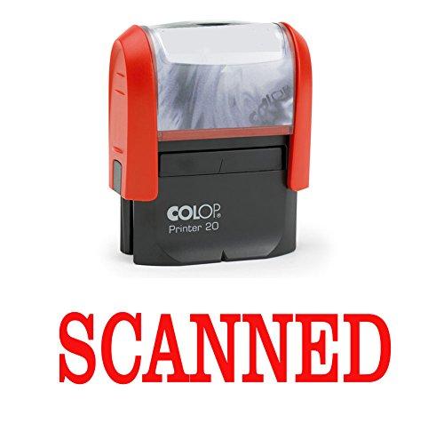 SCANNED Selbstfärber Stempel Red Ink Büro stationär Bedrucktes Colop Stempel