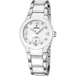Festina - F16588/2 - Montre Femme - Quartz Analogique - Bracelet Acier inoxydable Blanc
