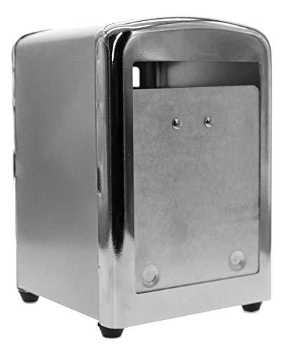 servilletero de mostrador de metal, dispensador servilletas de bar/PUB, Contenedor servilletas, tamaño 10x 14cm
