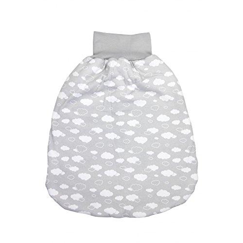 TupTam Baby Unisex Strampelsack mit Breitem Bund Wattiert, Farbe: Wolken Grau, Größe: 0-6 Monate