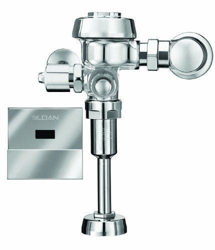 Sloan Flushometer (Sloan Valve ROYAL 186-1 ES-S Royal Optima Exposed Sensor Activated 1.0 GPF Urinal Flushometer for 3/4-Inch Top Spud Urinals, Chrome by Sloan Valve)