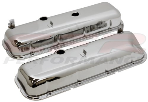 Preisvergleich Produktbild 1965-72 Chevy Big Block 396-427-454 Tall OEM Style (Recessed Corner) Steel Valve Covers - Chrome by CFR Performance - Chevy Valve Covers