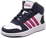 adidas Unisex-Kinder Hoops Mid 2.0 Basketballschuhe Weiß Ftwwht/Reamag/Trablu, 34 EU
