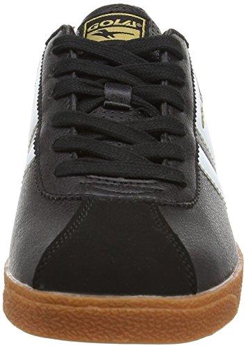 Gola Jungen Amhurst Sneaker Schwarz (schwarz/weiß/goldfarben)