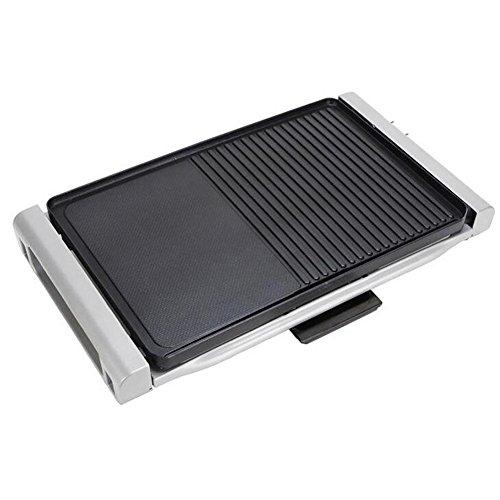 Myhope Elektro-Barbecue Grill Indoor/Outdoor verstellbare Temperaturen multifunktionale Smoke-Free Backformen Pan 2kW (Kleine Indoor-elektro-grill)