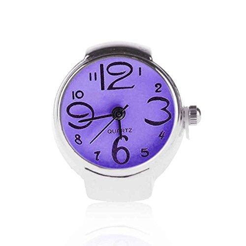 Forbestest Unisex mini 5 colores anillo pareja Relojes