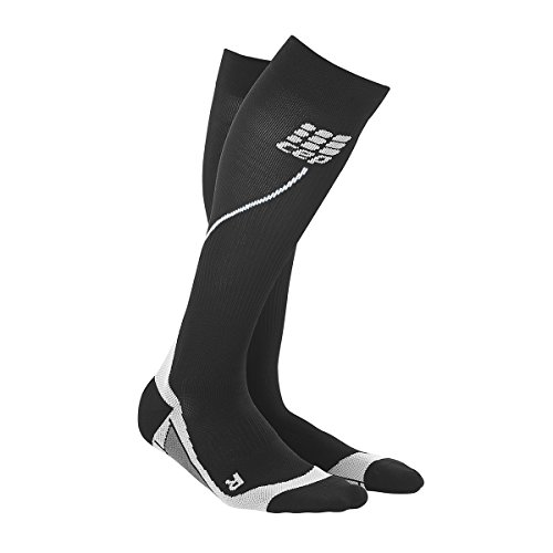 CEP Herren Strumpf Progressive+ Run Socks 2.0, Black/Grey, III, WP55V32