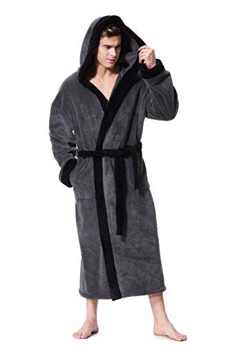 COSMOZ Peignoir/Robe de Chambre Homme Haut de Gamme en Polaire Velours