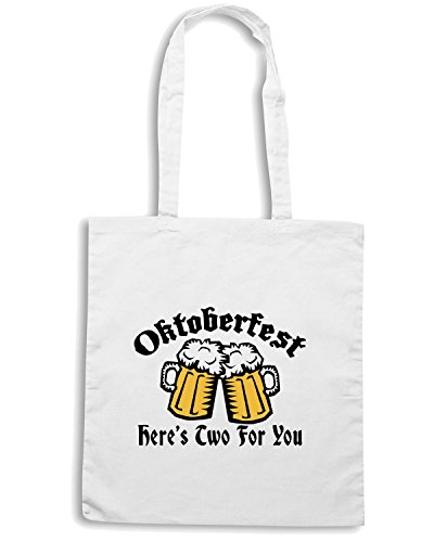 T-Shirtshock - Borsa Shopping OLDENG00195 naughty oktoberfest white Bianco