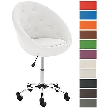 Woltu bh34ws 1 sedia ufficio scrivania sgabelli con for Sedia scrivania design