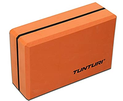Tunturi Black Yoga Block, Orange, one size