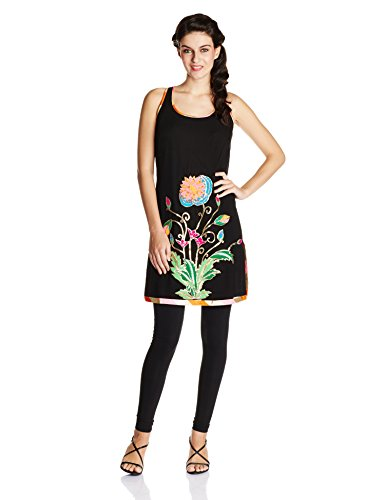Indian By Manish Arora Women's Viscose Georgette Straight Kurta (TRIPPY TAJ #...