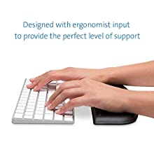 Kensington ErgoSoft Wrist Rest Support for Slim, Compact Keyboard - Ideal for Home Office, Ergonomist Approved - Professional design for function and Use with MacBook, iMac, Surface, Desktop; Black