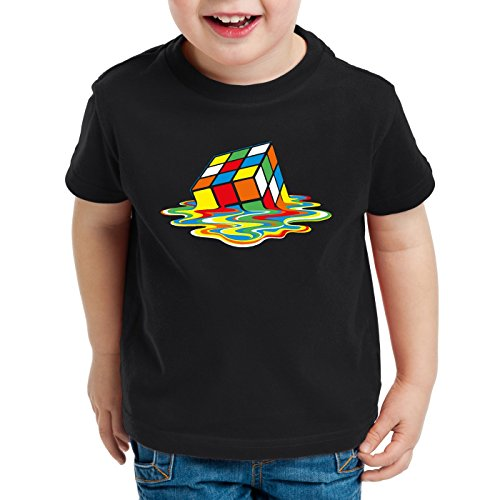 style3 Sheldon Cubo Mágico Camiseta para Niños T-Shirt, Talla:116