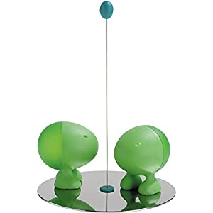 A di Alessi Lilliput Salt and Pepper Set with Magnetic Base, Blue (ASG02 AZ) by Alessi