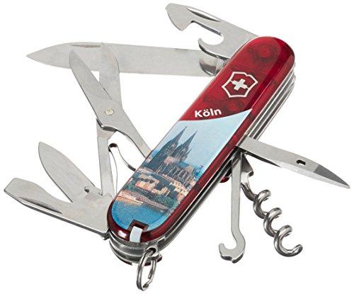 Victorinox Taschenwerkzeug Offiziersmesser Climber Rot Transparent Köln, 1.3703.TE10