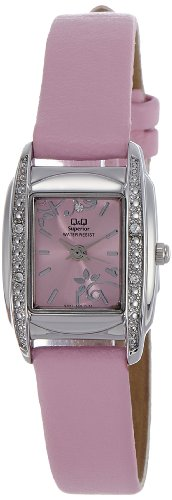 Q & Q Analog Pink Dial Women's Watch - S041-322Y image
