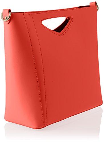 Chicca Borse Damen 8611 Schultertasche, 36x28x12 cm Rosso (Red)