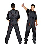 Classic Bib and Brace Overalls Mens Work Trousers Knee Pad Dungarees Multi Pocket Clasic (56 (38-40 Inch)) G0325
