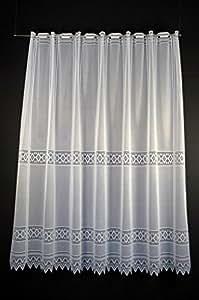 Rideaux brise-bise jacquard graphiquement 150 cm de haut   Vous pouvez choisir la largeur des rideaux par paliers de 13 cm   Colour: blanc   Rideaux cuisine