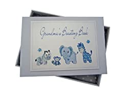 White Cotton Cards Grandma's Boasting Book Photo Album (Tiny, Blue)