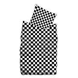 Suenos - Bettwäsche CHECKER BOARD schwarz/weiß