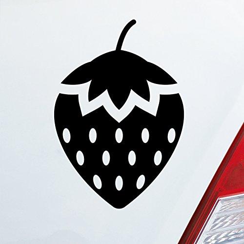 Auto Aufkleber in deiner Wunschfarbe Erdbeere Frucht Beere dominant sm Devot Domina 9,5x14 cm Autoaufkleber Sticker -