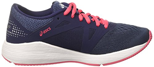 Asics Roadhawk Ff, Chaussures de Running Femme Multicolore (Insignia Blue/silver/rouge Red)