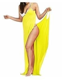 2e47eea8d7 Outgoings Women's Bikini Cover Up Spaghetti Strap Beach Dress Wrap Swimwear  Swimsuit