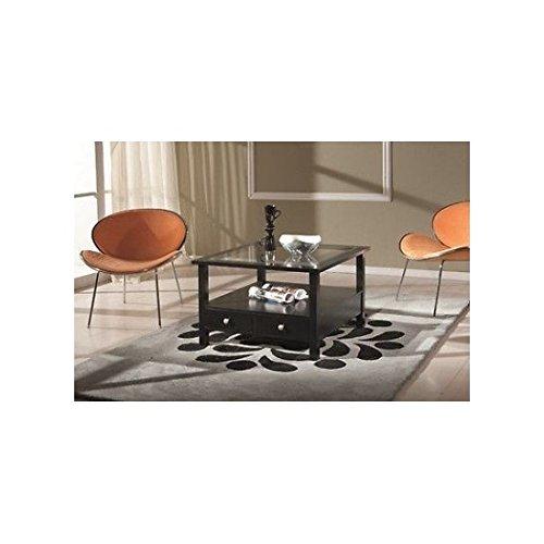 EsteaMobili estea Meubles – Table Basse carré laqué Noir