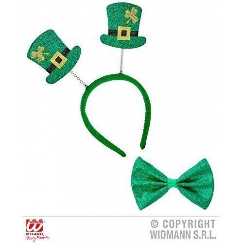 Mini - St. Patrick´s Day Zylinder auf Haarreif mit passender Fliege / Kostüm Zubehör / (Patricks Day St Zubehör)