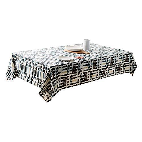 WANGYA Polyester Stoff Tischdecke,Baumwolle Nordischer Stil Geometrisches Diagramm Rechteck Aktives Drucken Handtuch Abdecken Haushalt Wohnzimmer Tischwäsche, 140x140cm -