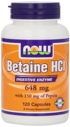 Now Foods 648mg Betaine HCL Capsules - Pack of 120 Capsules
