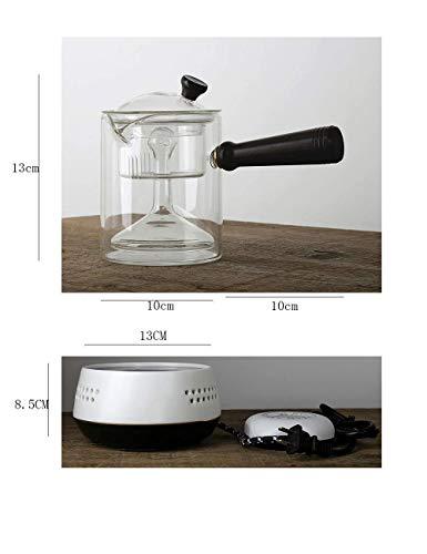 AYHa Wasserkocher Multifunktionale Teekanne Glas Tee-Set Elektrische Verdickung Hitzebeständige Haushalt Teekanne Heizung Elektrische Keramik Herd (500 Ml)
