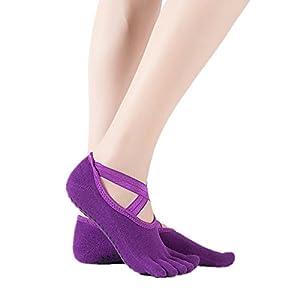 BSD Fußabdeckung Yoga Socken Tanzbewegung Fünf Finger Socken Anti-Rutsch-Kreuz gelten für Frauen