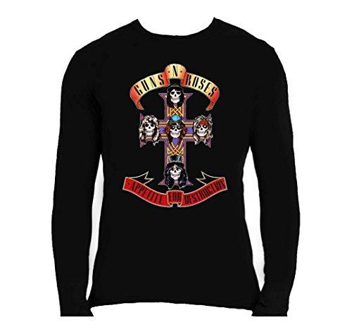 Official T Shirt GUNS N ROSES Appetite For Destruction Long Sleeve L