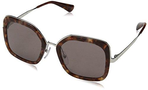 Prada Damen 0PR57US UE06X1 54 Sonnenbrille, Braun (Pink Havana/Purple Brown)