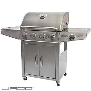 Broil-master - Grill Barbecue à Gaz 4 + 1 en Acier Inoxydable Thermomètre Intégré