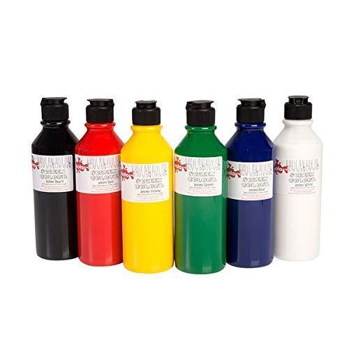 6 X Scola Display Farbe 300 ML Druckfarbe 6er Pack Verschiedene Farben Malset -