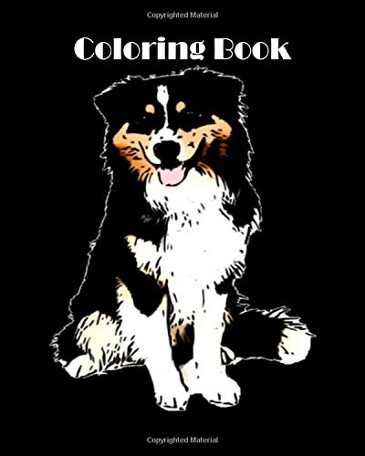 Coloring Book: australian shepherd  – 69 pages Coloring Book – 8 x 10 inches
